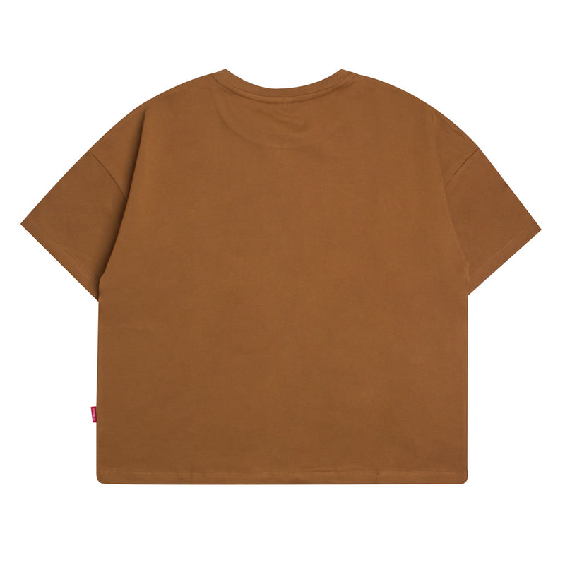 Seasonal Women Edison Oversized Crop Top | Light Brown