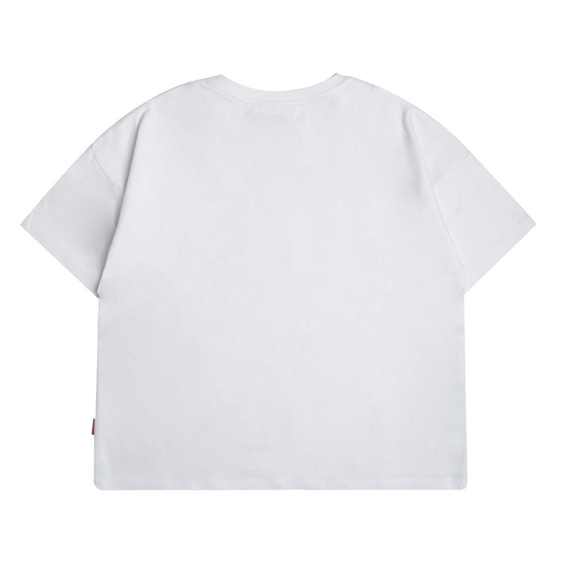 Seasonal Women Edison Oversized Crop Top | White