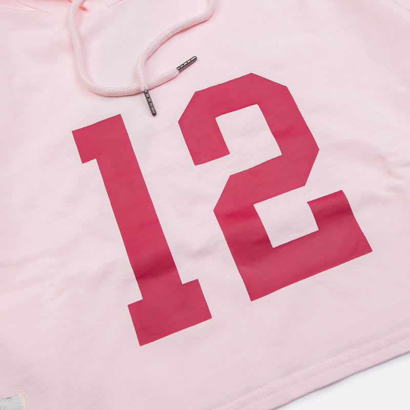 Seasonal Women Ryan Oversized Crop Hoodie | Pink