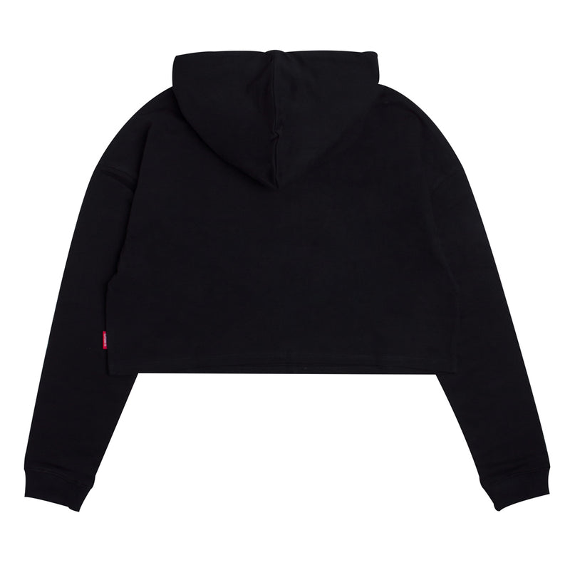 Seasonal Women Wesley Oversized Crop Hoodie | Black