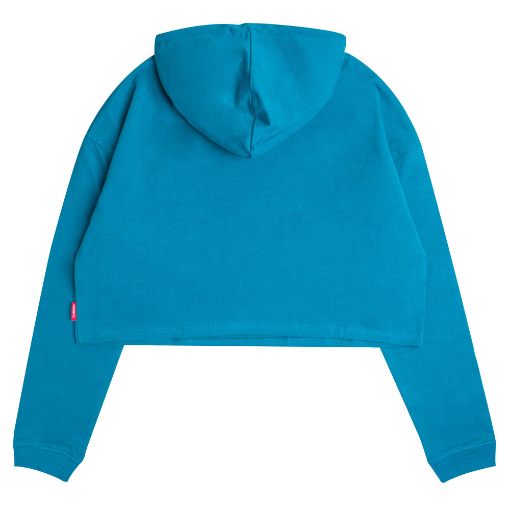 Seasonal Women Wesley Oversized Crop Hoodie | Turquoise