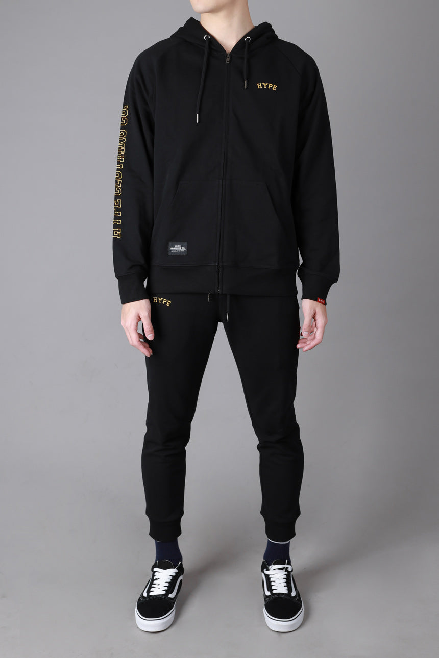 Signature Chief Zip Hoodie | Black