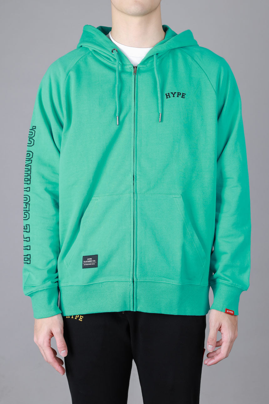 Signature Chief Zip Hoodie | Light Green