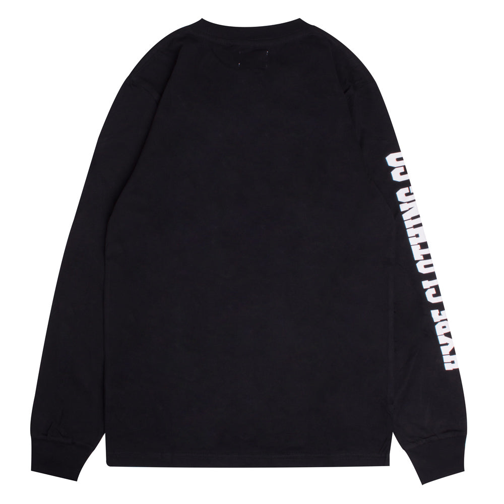 Signature Captain Long Sleeve Tee | Black
