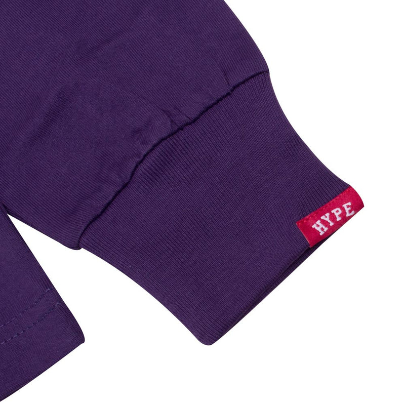 Signature Captain Long Sleeve Tee | Purple