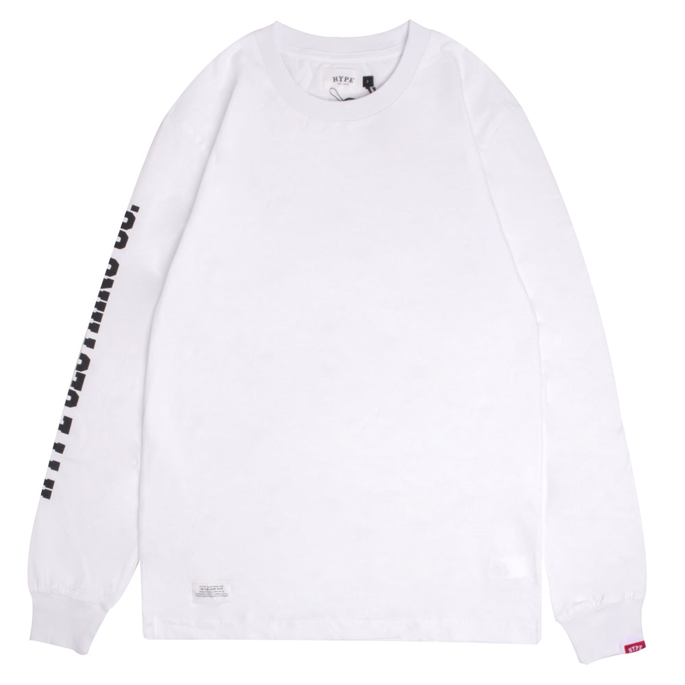 Signature Captain Long Sleeve Tee | White