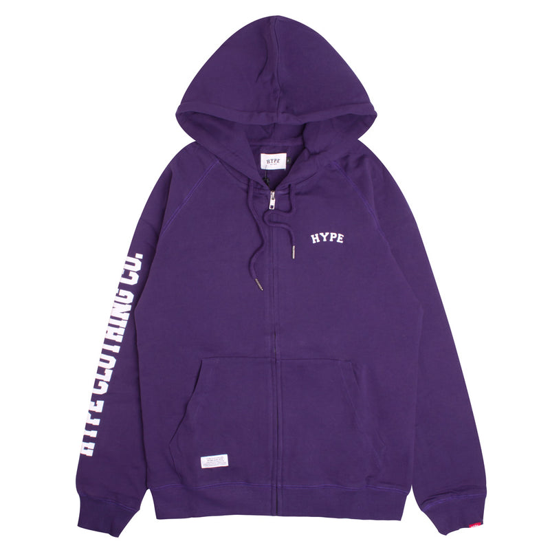 Signature Captain Zip Hoodie | Purple