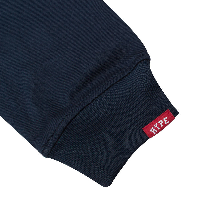 Signature Chief Rubgy Long Sleeve Polo | Navy/White