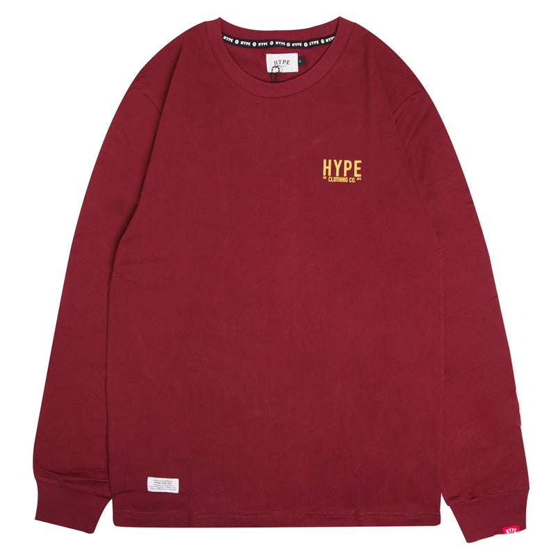 Signature Colonel Long Sleeve Tee | Maroon
