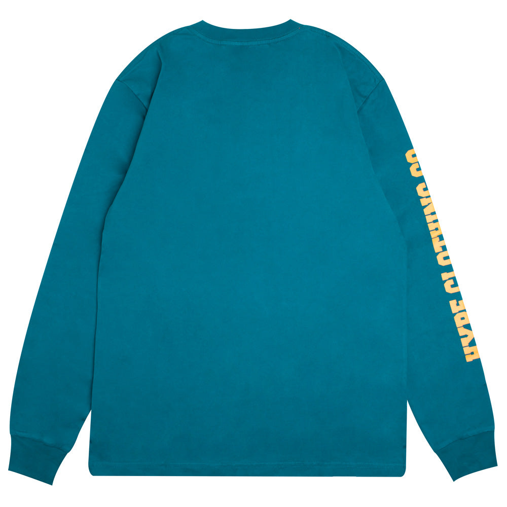 Signature Colonel Long Sleeve Tee | Turquoise