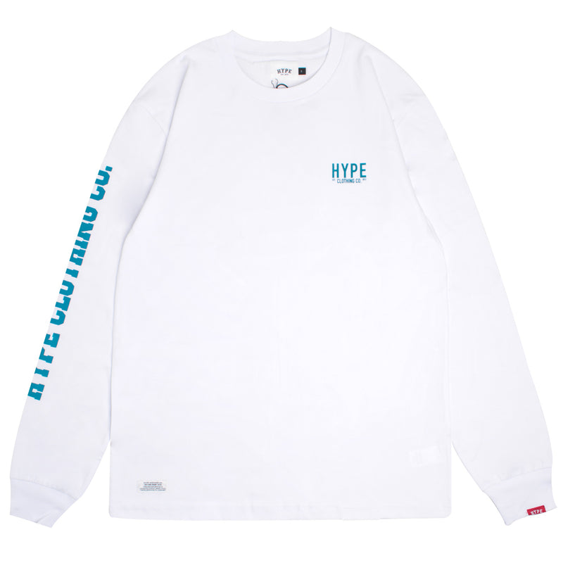 Signature Colonel Long Sleeve Tee | White