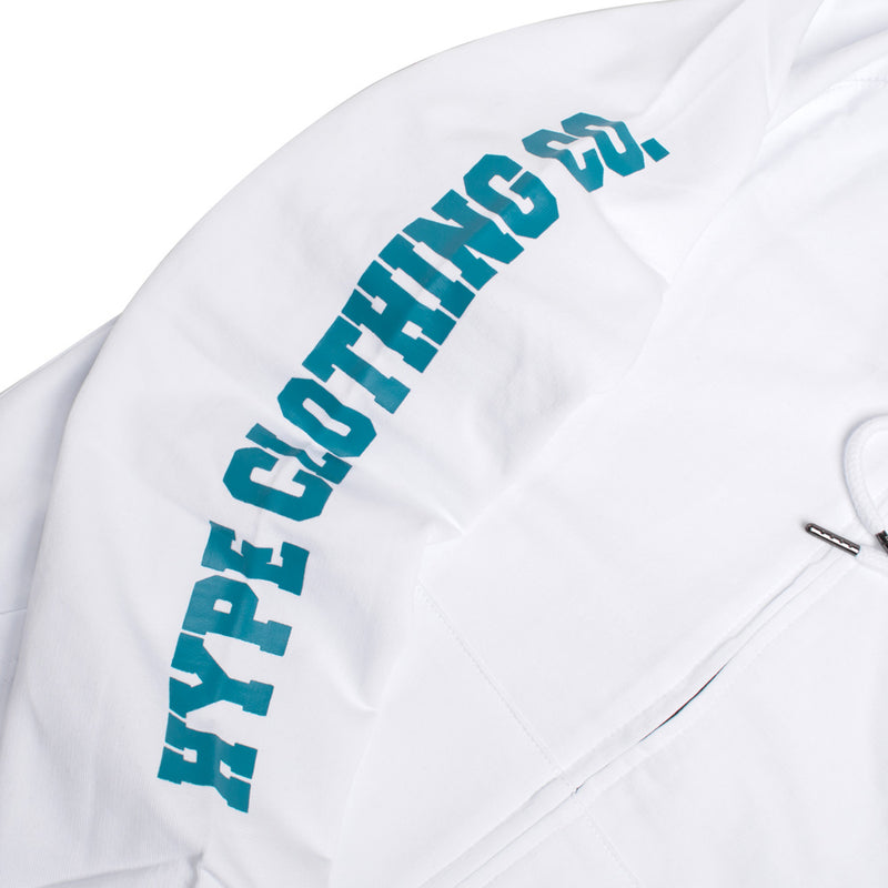Signature Colonel Zip Hoodie | White