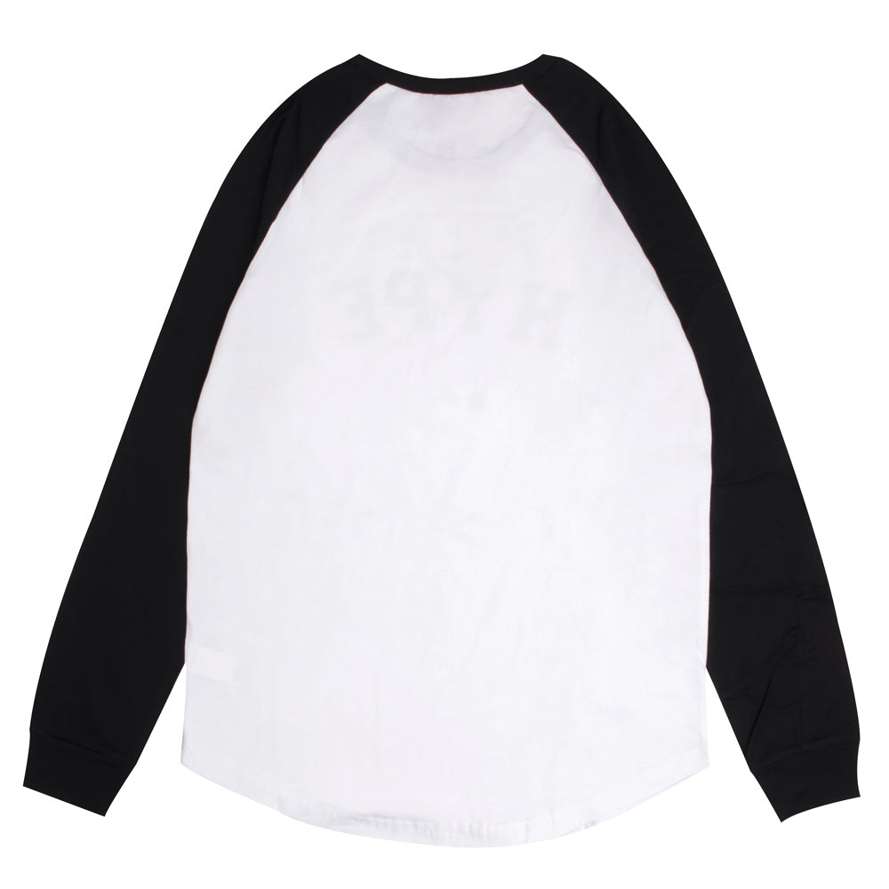Signature General Long Sleeve Raglan | White/Black