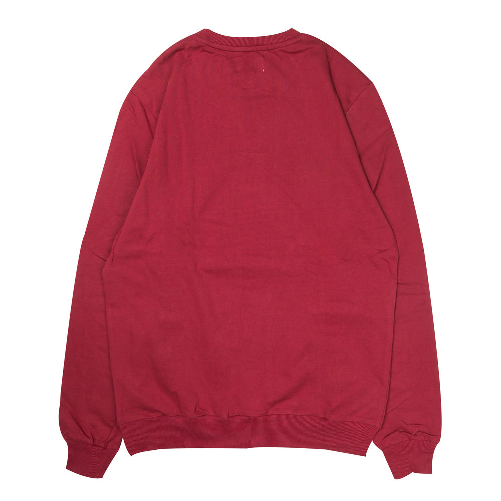 Signature Major Crewneck Sweater | Maroon