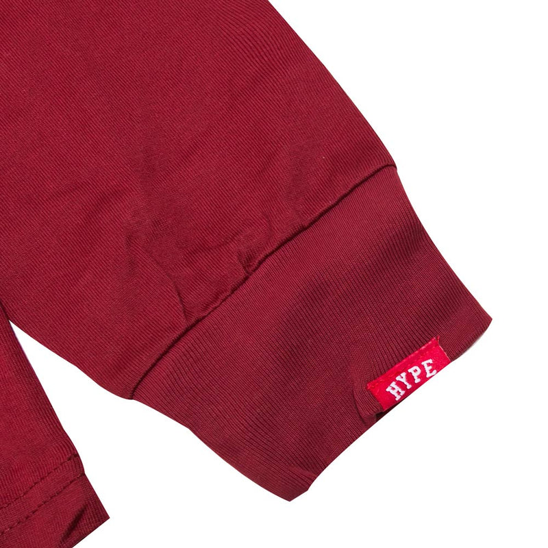 Signature Major Long Sleeve Tee | Maroon