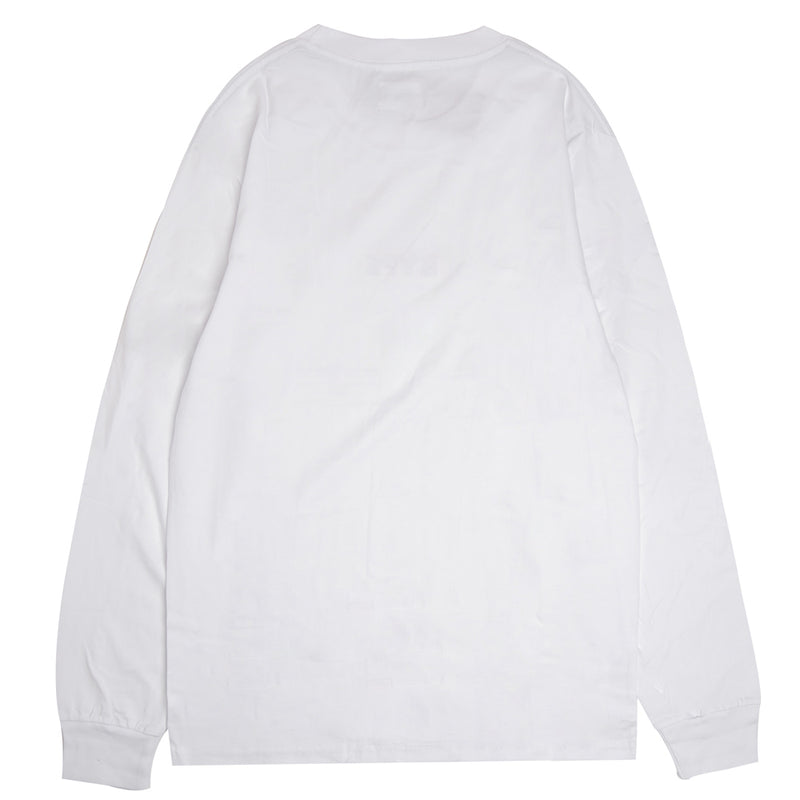 Signature Major Long Sleeve Tee | White