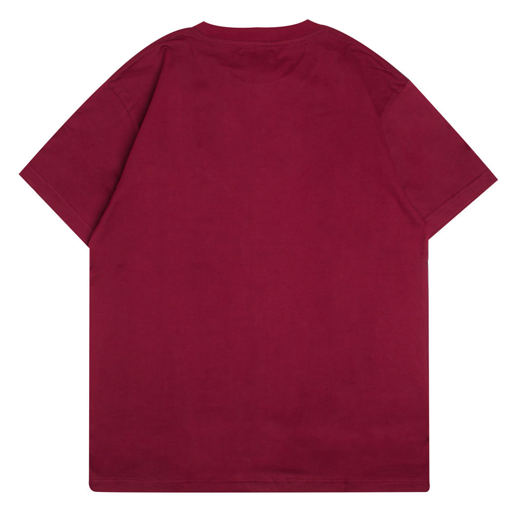 Signature Major Pocket Short Sleeve Tee | Maroon