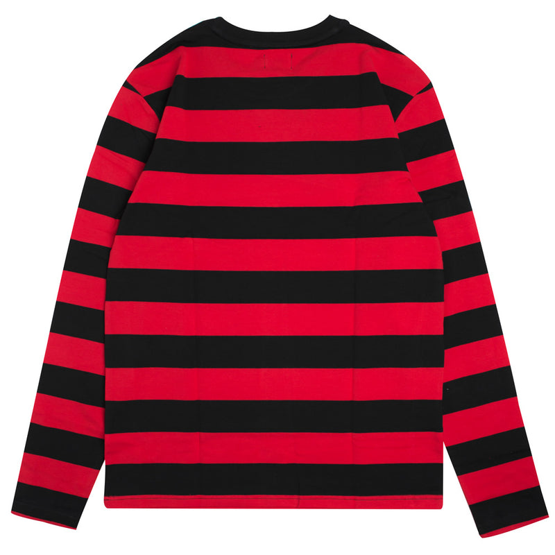 Signature Stripe Long Sleeve Tee | Black/Red