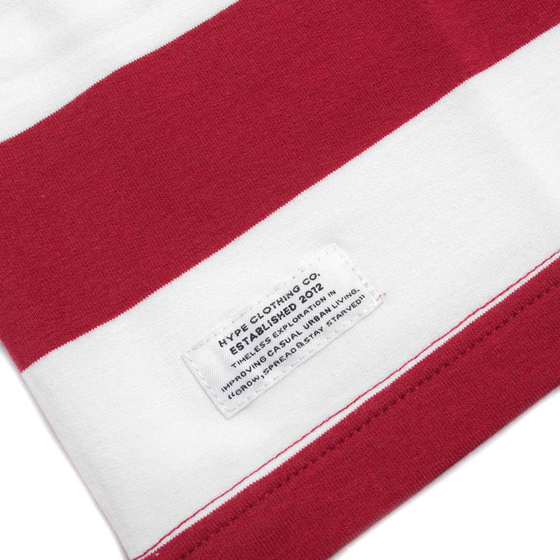 Signature Stripe Short Sleeve Tee | White/Maroon