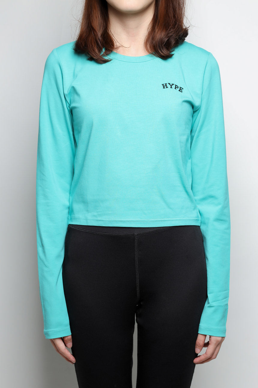 Signature Women Chief Long Sleeve Crop Top | Light Green