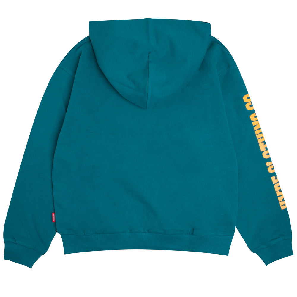 Signature Women Colonel Pullover Hoodie | Turquoise