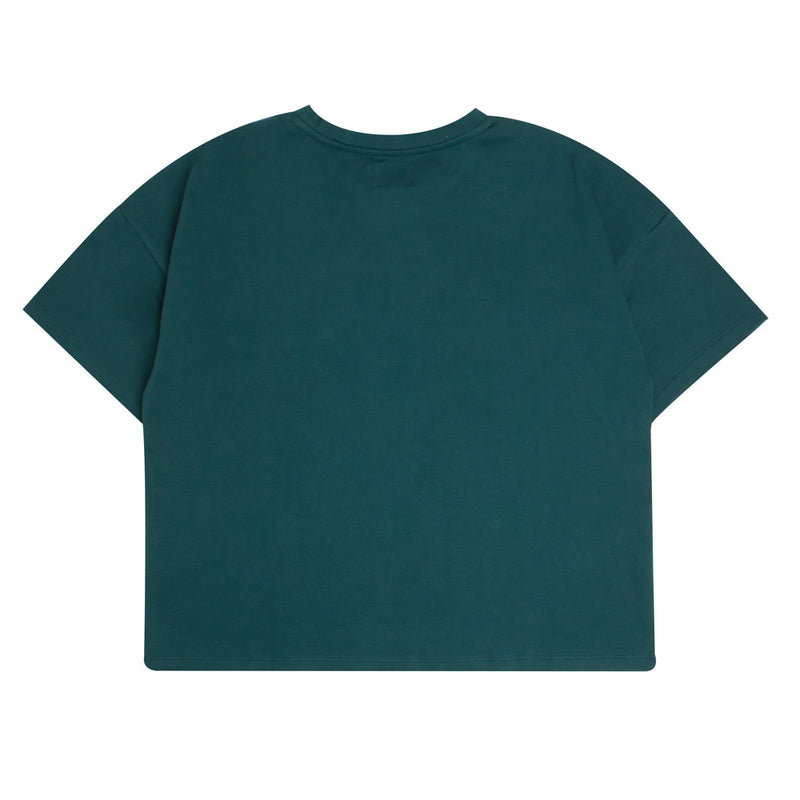 Signature Women General Oversized Crop Top | Green