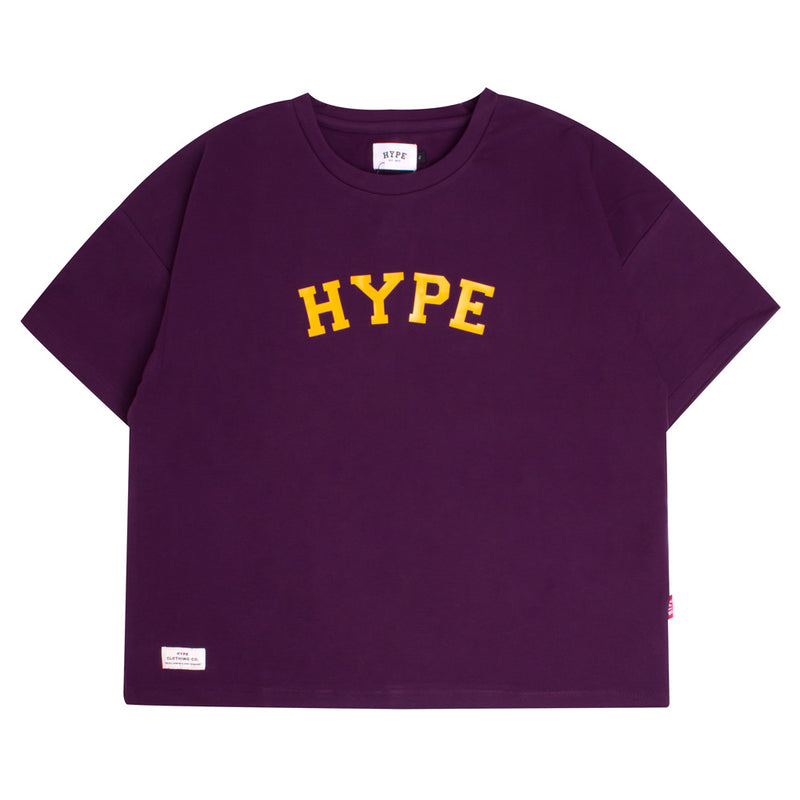 Signature Women General Oversized Crop Top | Purple