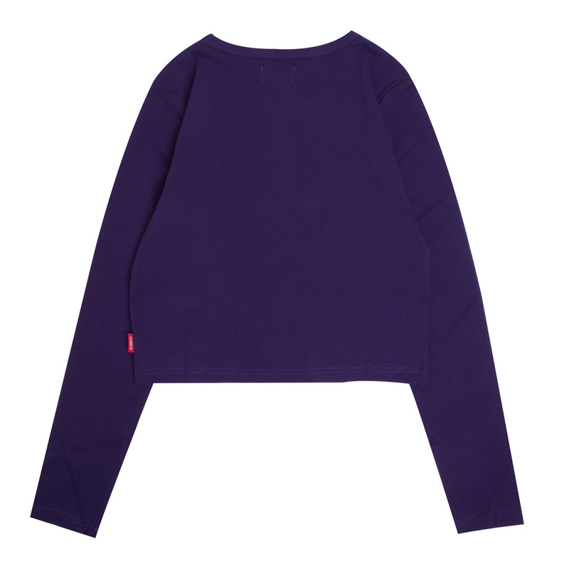 Signature Women General Long Sleeve Crop Top | Purple