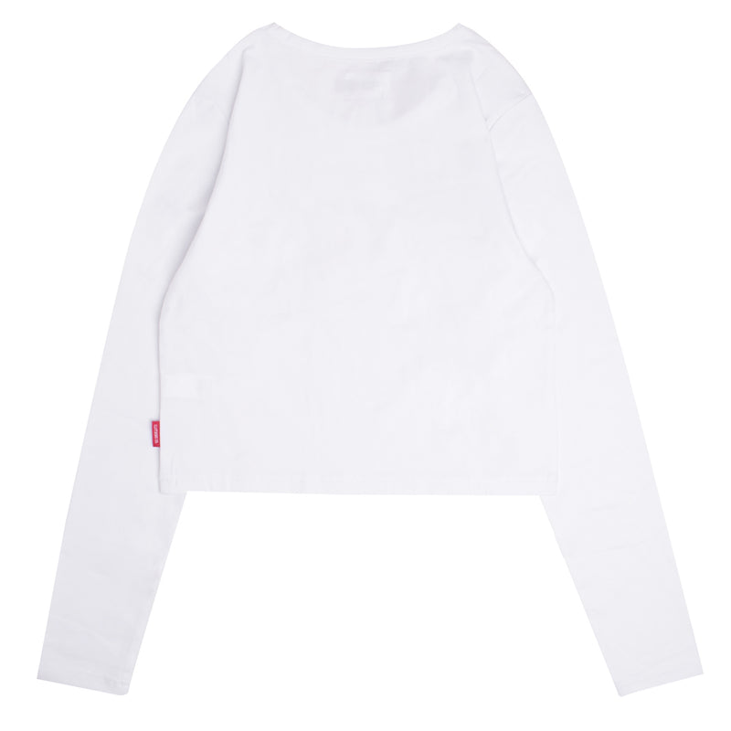 Signature Women General Long Sleeve Crop Top | White