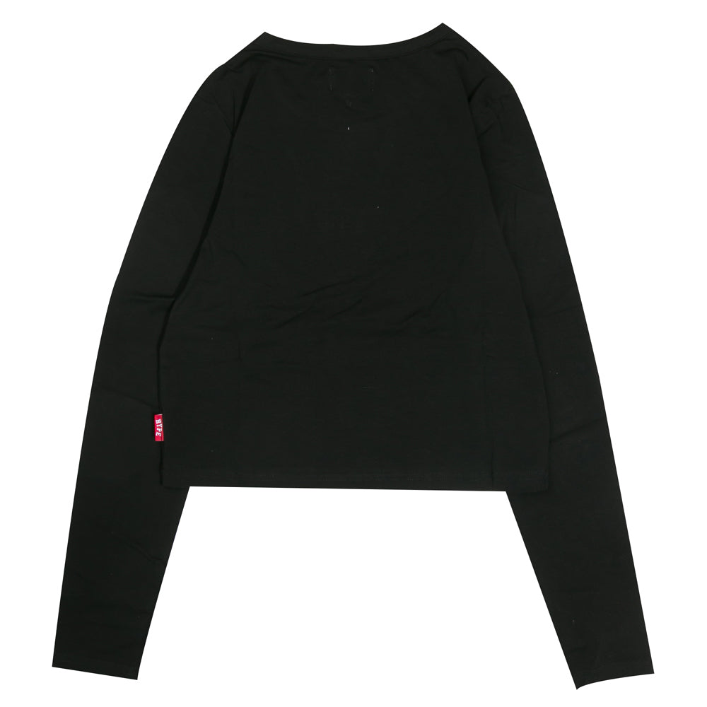 Signature Women Major Long Sleeve Crop Top | Black