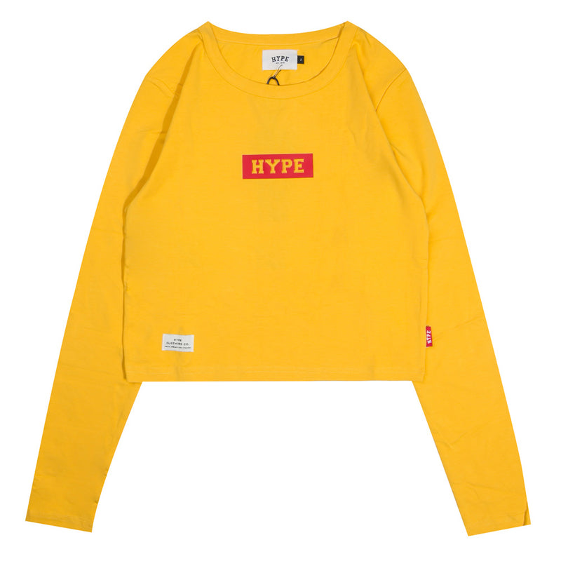Signature Women Major Long Sleeve Crop Top | Mustard