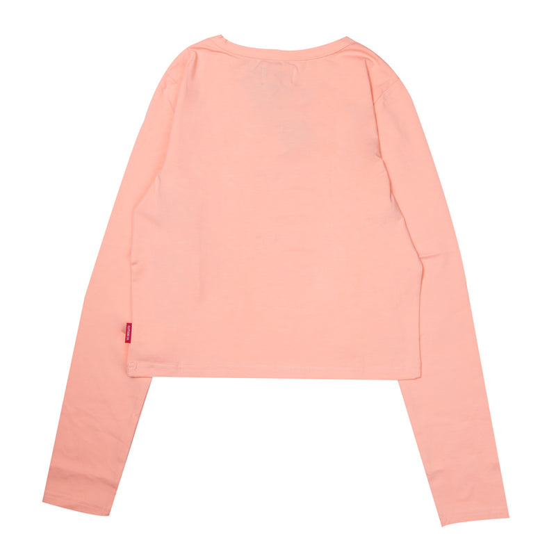 Signature Women Major Long Sleeve Crop Top | Peach