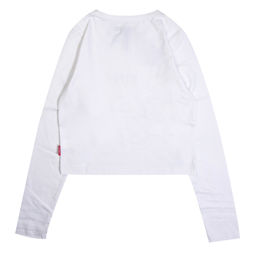 Signature Women Major Long Sleeve Crop Top | White