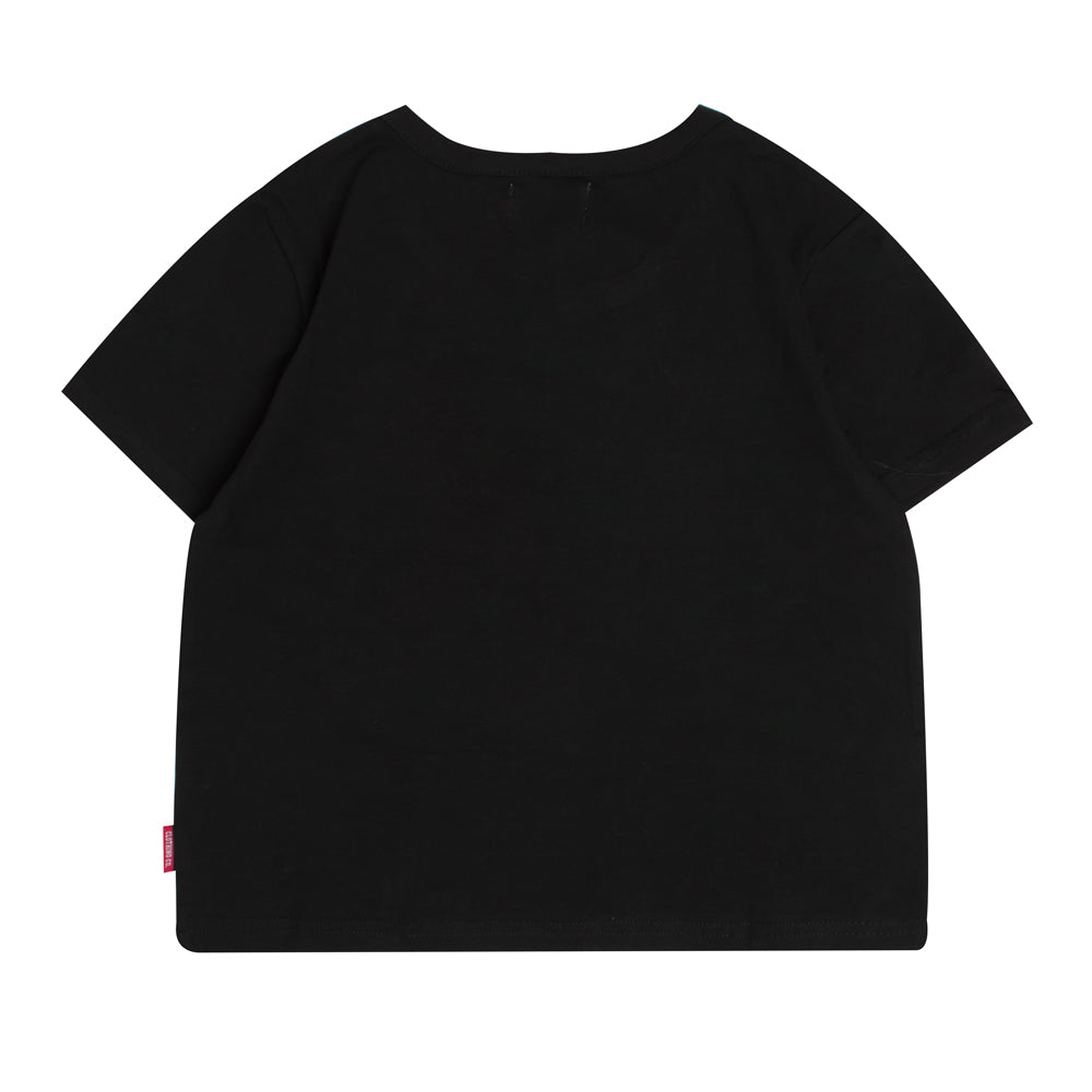 Signature Women Major Crop Top | Black
