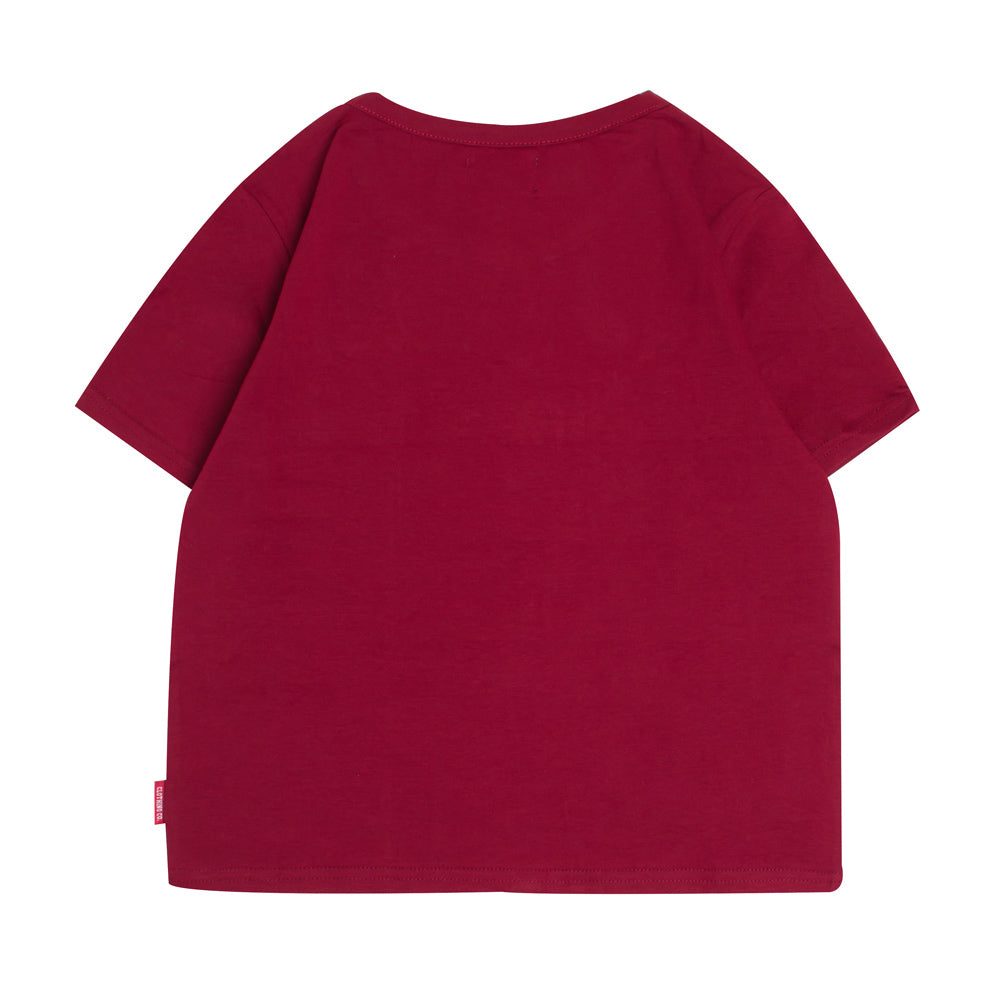 Signature Women Major Crop Top | Maroon