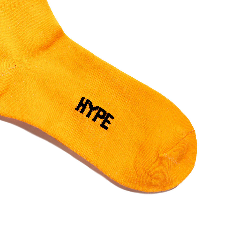 Seasonal Logo Print Long Sock | Orange