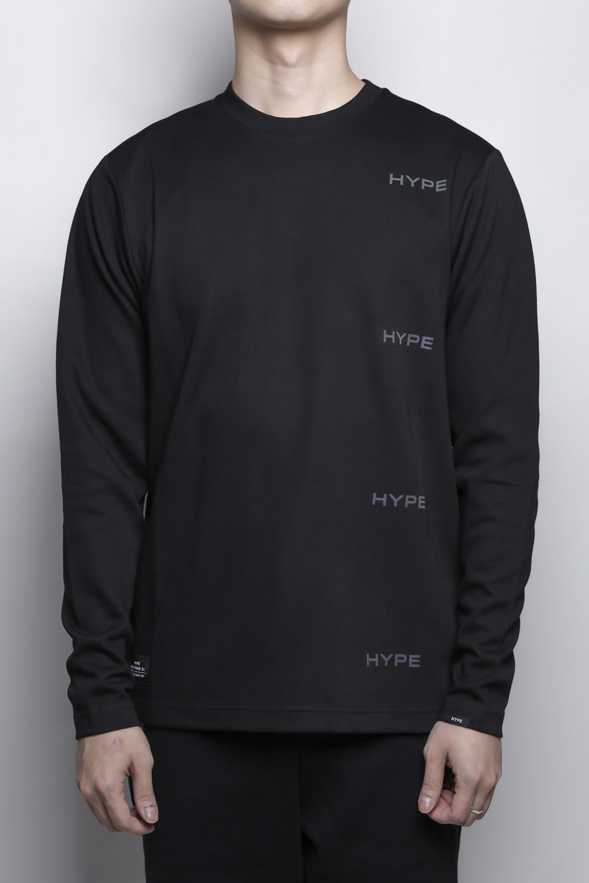 Fade To Black Circuit Long Sleeve Tee | Black