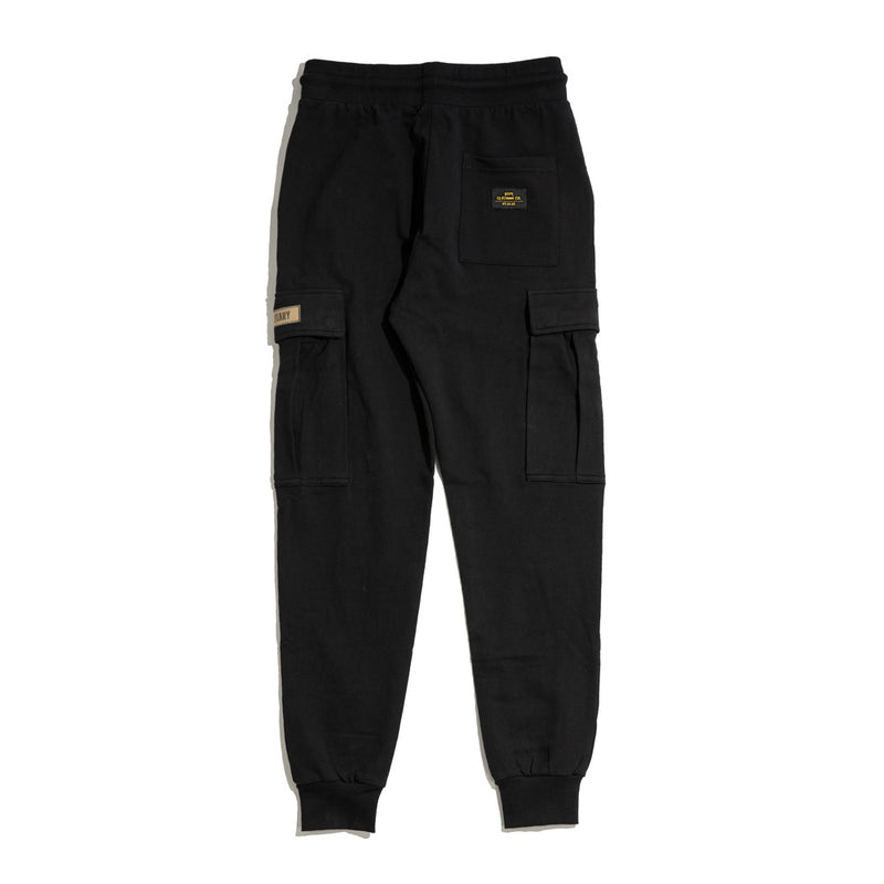 Capsule Military Cargo SweatPant | Black