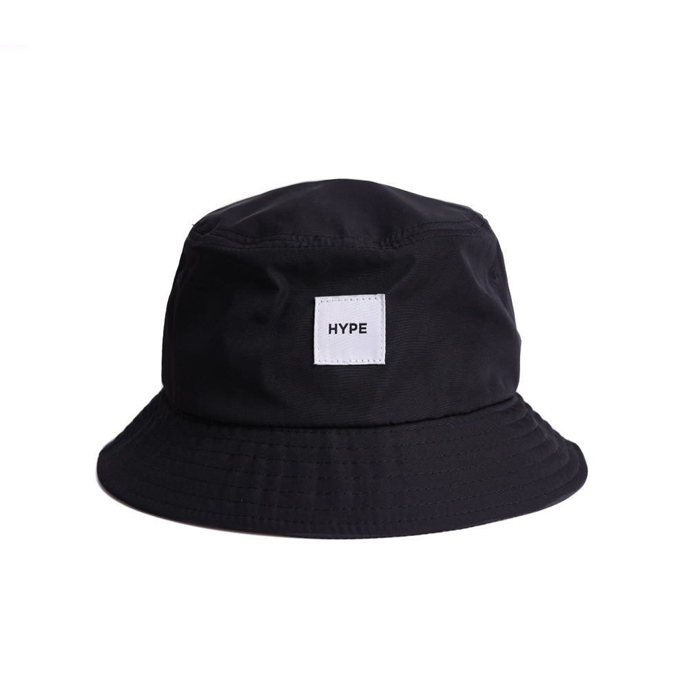 Signature Square Label Bucket Hat | Black
