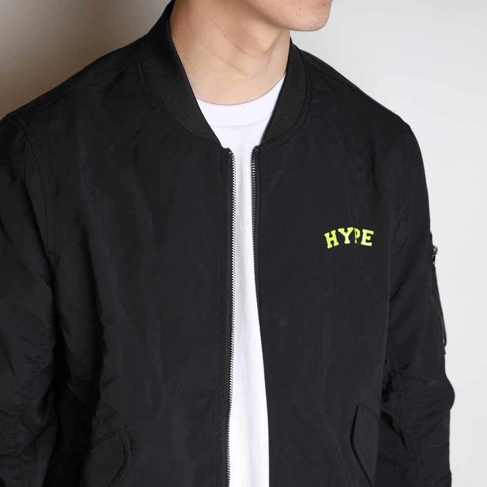 Signature Chief MA 1 Jacket | Black/ Neon