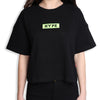Signature Women Major Oversized Crop Top | Black