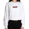 Signature Women Major Crop Crew Neck | White