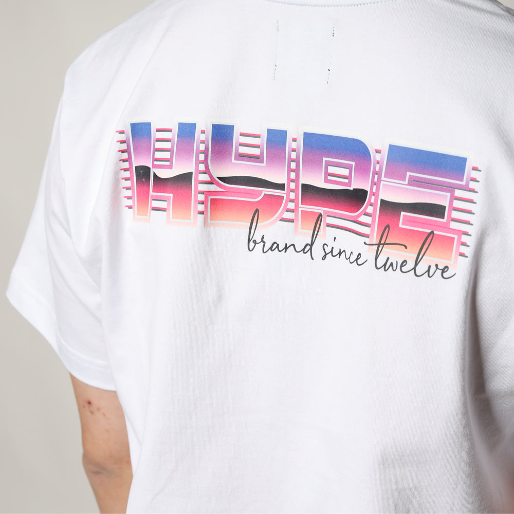 Back to 80s Outrun Short Sleeve Tee | White
