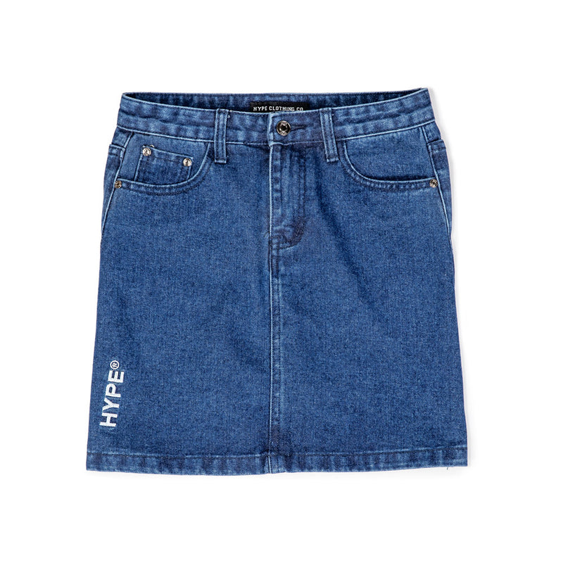 Signature Sergeant Women High Waist Mini Skirt  | Denim Blue