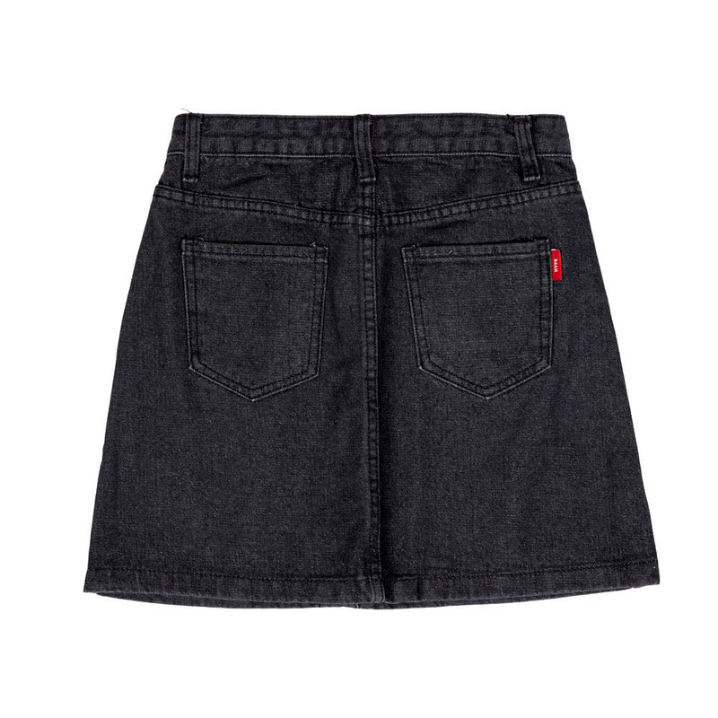 Signature Sergeant Women High Waist Mini Skirt  | Denim Black
