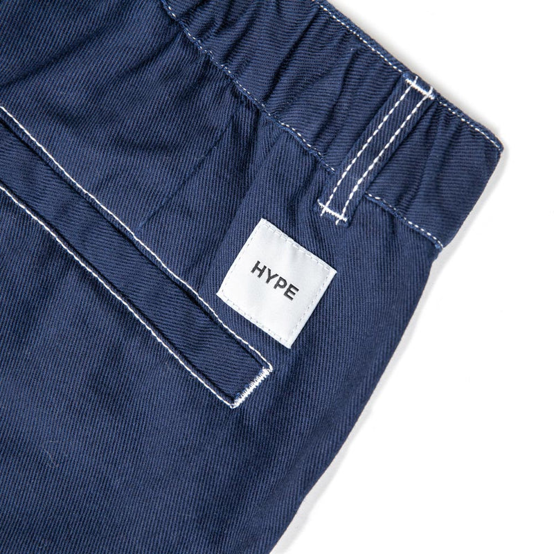 Signature Square Label Women High Waist Skirt  | Navy