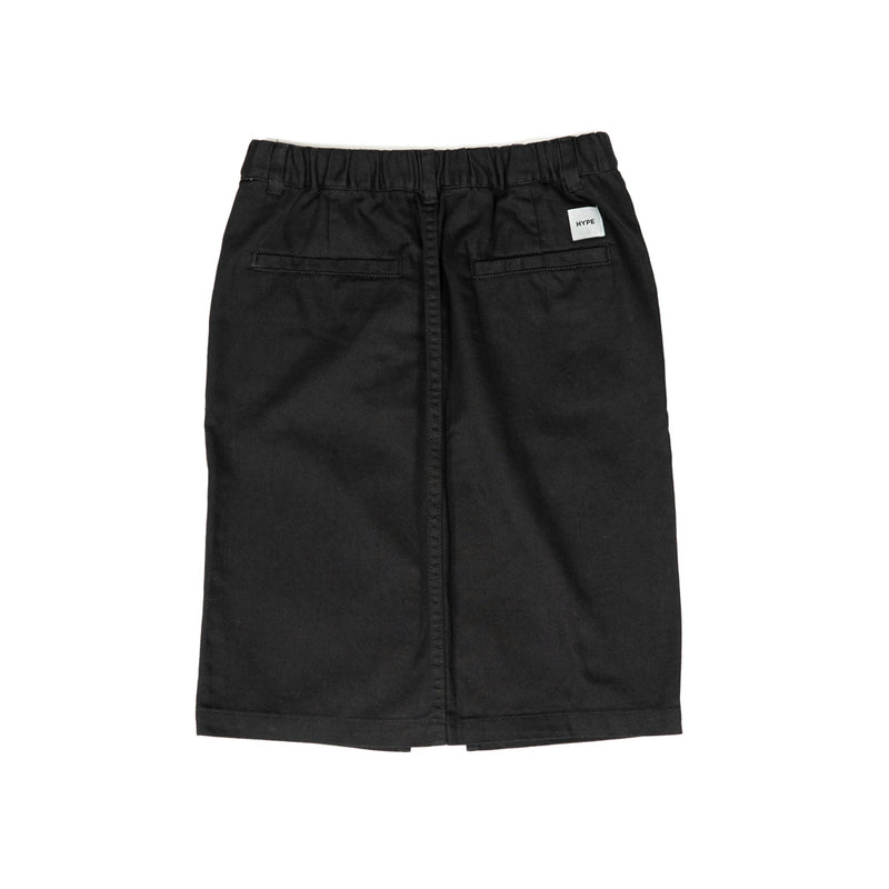 Signature Square Label Women High Waist Skirt  | Black