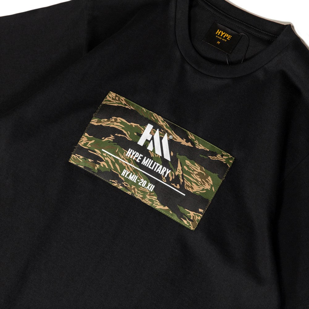 Capsule Military Echo Camo Box Tee | Black