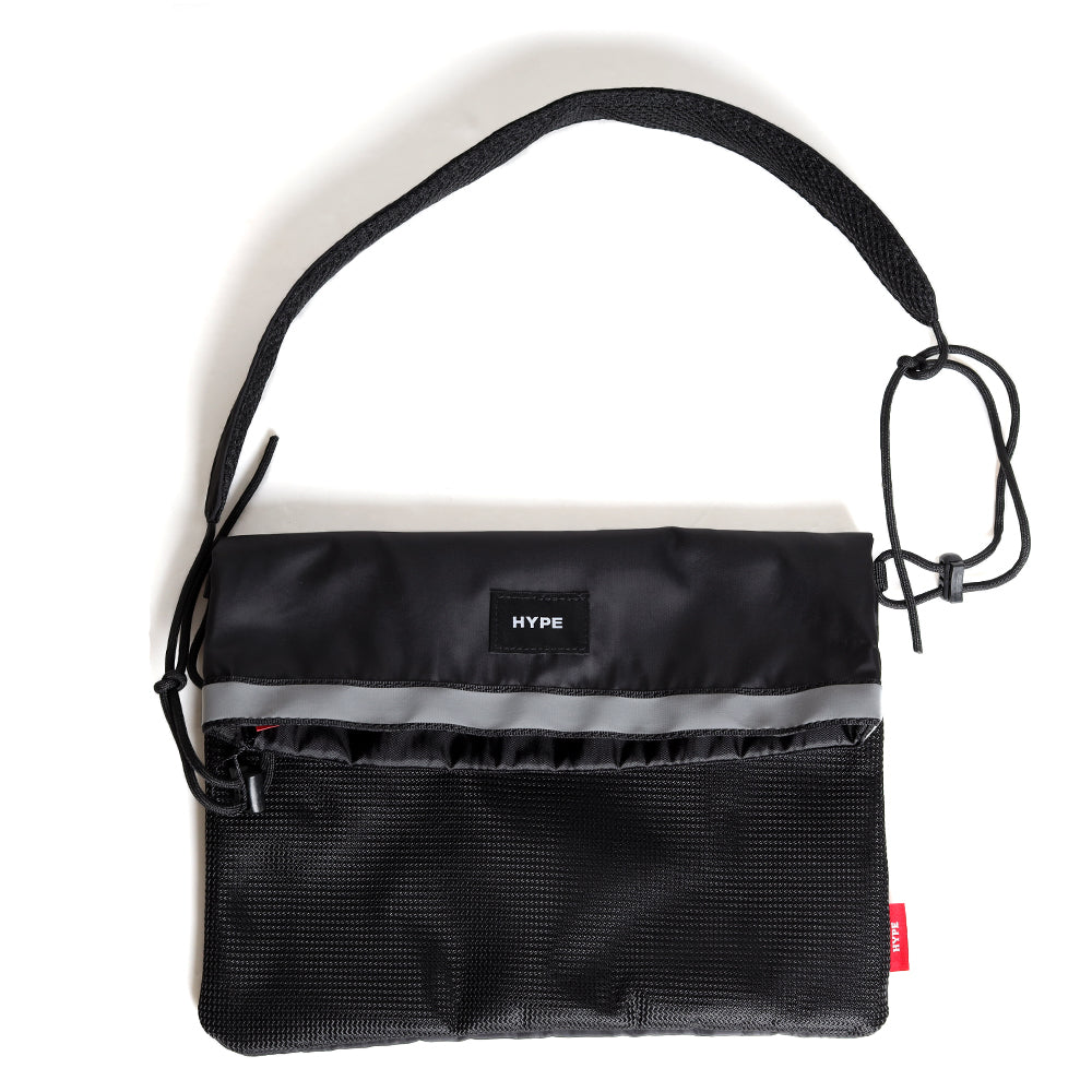 Seasonal Reflective Slide Sacoche Bag | Black
