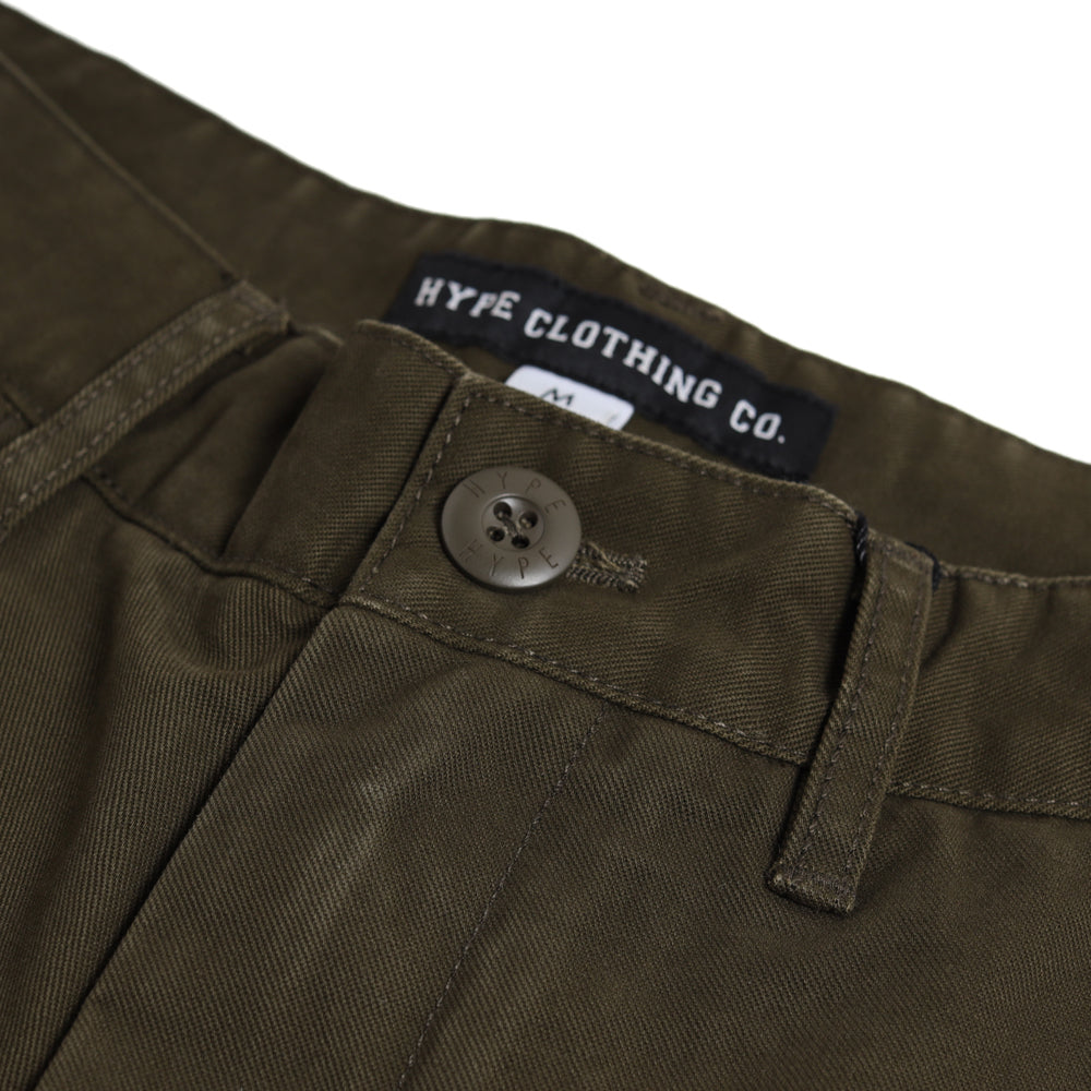 Signature Square Label Chino Shorts | Green